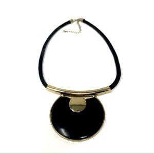 ⭐️5/$25 Boho Black/Gold Rope Statement Necklace